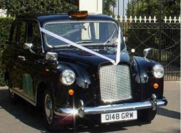 Classic London Taxi Wedding Hire in Egham